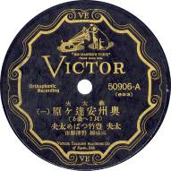 the record label of Gidayu Oshu Adachigahara
